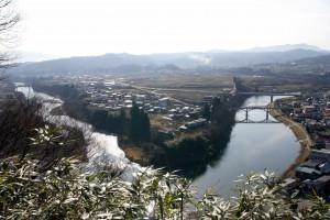 日本一公園からの眺め 春先