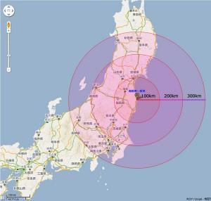 福島原発からの距離